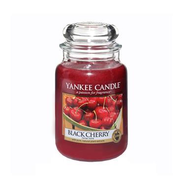 YANKEE BLACK CHERRY LARGE JAR CANDLE