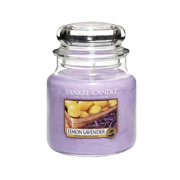 YANKEE LEMON LAVENDER MEDIUM JAR CANDLE