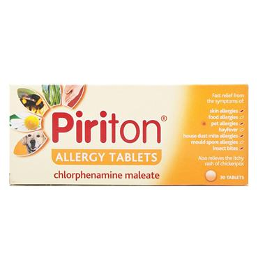 PIRITON ANTIHISTAMINE ALLERGY TABLET 30S