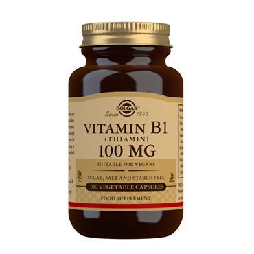 SOLGAR VITAMIN B1 (THIAMIN) 100MG 100 CAPSULES
