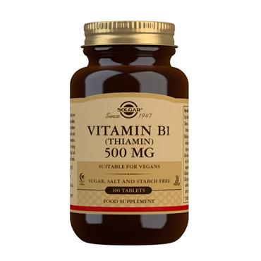 SOLGAR VITAMIN B1 (THIAMIN) 500MG 100 TABLETS