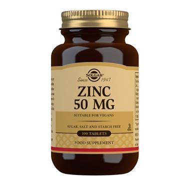 SOLGAR ZINC 50MG 100'S