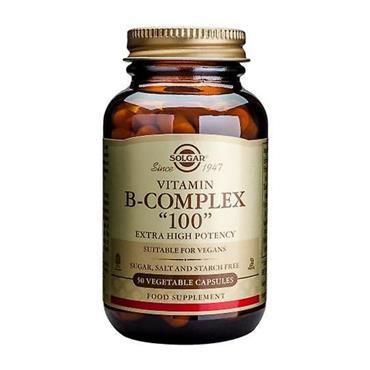 SOLGAR VITAMIN B 100 COMPLEX 50 CAPSULES
