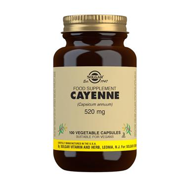 SOLGAR CAYENNE FULL POTENCY 100 VEGETABLE CAPSULES