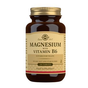 SOLGAR MAGNESIUM WITH VITAMIN B6 100 TABLETS