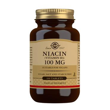 SOLGAR NIACIN 100MG 100 TABLETS