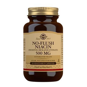 SOLGAR NO-FLUSH NIACIN 500MG 50 CAPSULES