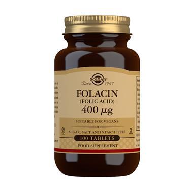 SOLGAR FOLACIN (FOLIC ACID) 400 UG 100 TABLETS
