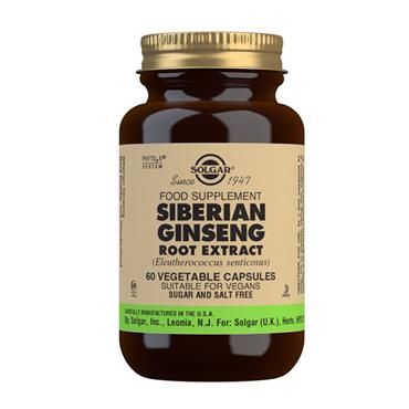 SOLGAR SIBERIAN GINSENG ROOT EXTRACT 60 VEGETABLE CAPSULES