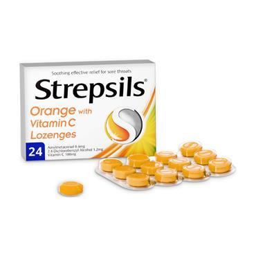 STREPSILS ORANGE + VITAMIN C 24S