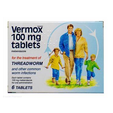 VERMOX TABLETS 100MG 6S
