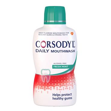CORSODYL DAILY ALCHOL FREE FRESH MINT 500ML