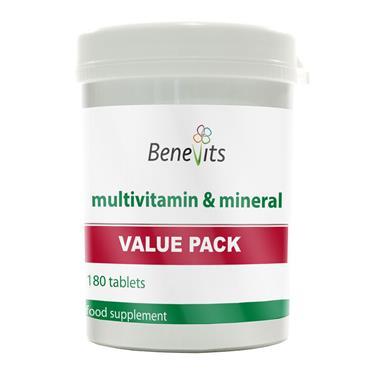 BENEVITS MULTIVITAMIN & MINERALS TABLETS 180S