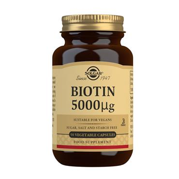 SOLGAR BIOTIN 5000 UG 50 VEGETABLE CAPSULES