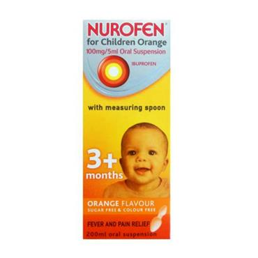NUROFEN 3+ MONTHS SUGAR FREE ORANGE SPOON 200ML