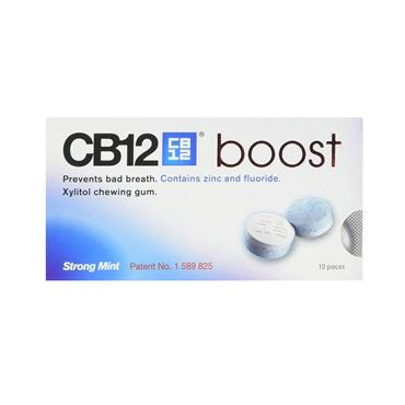 CB12 BOOST XYLITOL STRONG MINT CHEWING GUM 10 PIECES