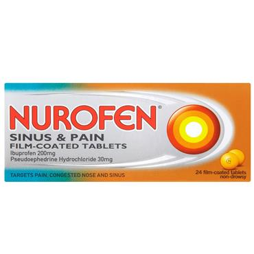NUROFEN SINUS COLDS/FLU 24S