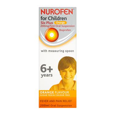 NUROFEN 6+ YEARS SUGAR FREE ORANGE SPOON 200ML
