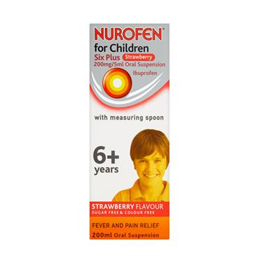 NUROFEN 6+ YEARS SUGAR FREE STRAWBERRY SPOON 200ML