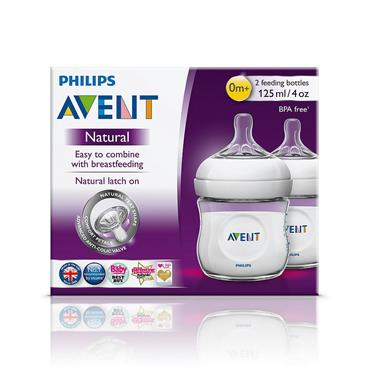AVENT NATURAL NATURAL BOTTLE 125ML  X 2