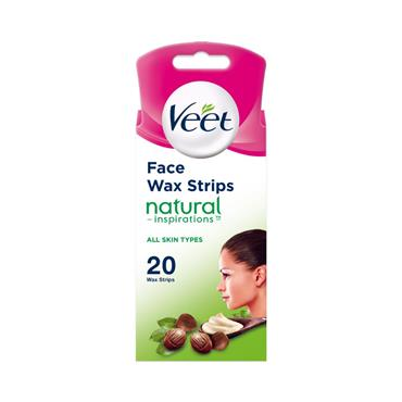 VEET FACE STRIPS NATURAL 20S