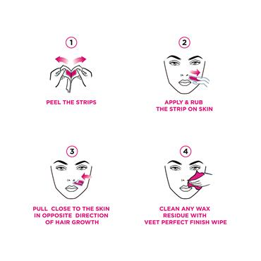 VEET FACE STRIPS NAT 20S