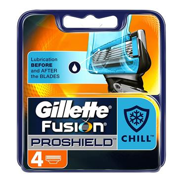 GILLETTE PRO SHIELD CHILL BLADES X 4