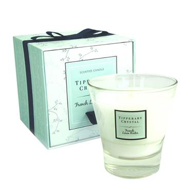 TIPPERARY CRYSTAL FRENCH LINEN CANDLE