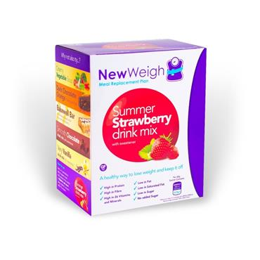 NEW WEIGH MEAL REPLACEMENT PLAN STRAWBERRY DRINK MIX 7 SACHETS