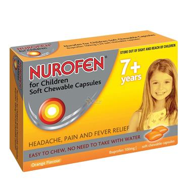 NUROFEN 7+ ORANGE SOFT CHEWABLE CAPSULES