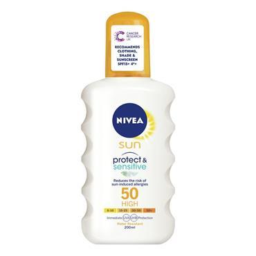 NIVEA PROTECT & SENSITIVE SPRAY SPF 50 200ML
