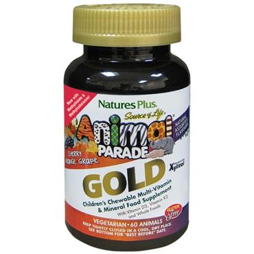 NATURES PLUS SOURCE OF LIFE ANIMAL PARADE GOLD ASSORTED 60 ANIMALS