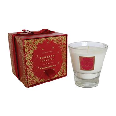 TIPPERARY CRYSTAL CHRISTMA BERRIES CANDLE