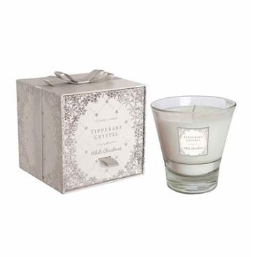 TIPPERARY CRYSTAL WHITE CHRISTMAS CANDLE