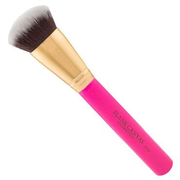 BLANK CANVAS F43 FLAT ROUND MULTI FACE BRUSH GOLD HOT PINK