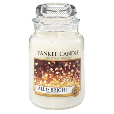 YANKEE CANDLE LARGE JAR ALL IS BRIGHT