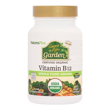 NATURES PLUS SOUCE OF LIFE GARDEN ORGANIC VITAMIN B12 1000MG 60 CAPSULES