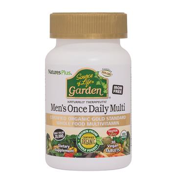 NATURES PLUS GARDEN ORGANIC MENS DAILY 30 TABLETS