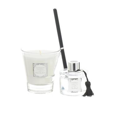 TIPPERARY CRYSTAL WHITE CHRISTMAS DIFFUSER & CANDLE SET