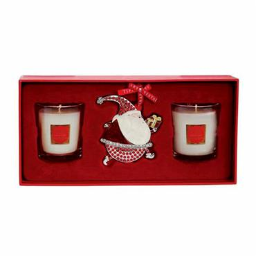 TIPPERARY CRYSTAL CHRISTMAS BERRIES CANDLE AND DECORATION SET