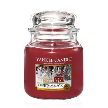 YANKEE CHRISTMAS MAGIC MEDIUM JAR CANDLE