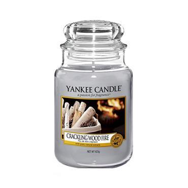 YANKEE CRACKLING WOOD FIRE LARGE JAR