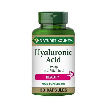 NATURE'S BOUNTY HYALURONIC ACID+VITAMIN C 30 CAPSULES