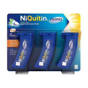 NIQUITIN MINI 4MG LOZENGES 60S