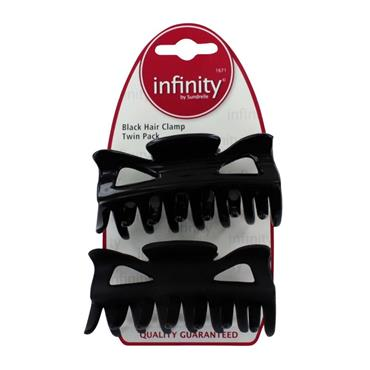 INFINITY BLACK CLAMP TWIN PACK