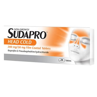 SUDAPRO HEAD COLD TABLETS 24S