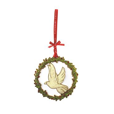 TIPPERARY CRYSTAL SPARKLE DOVE TREE DECORATION