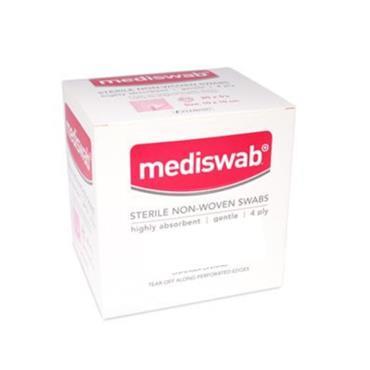 MEDISWAB STERILE NON WOVEN SWAB 5X5CM 5 SWABS