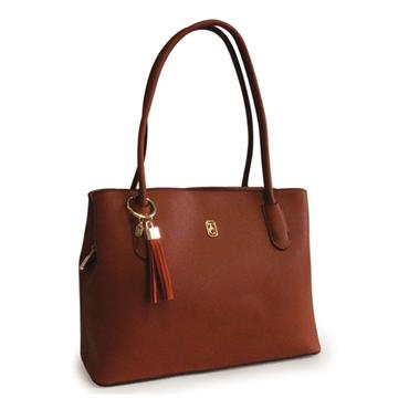 TIPPERARY CRYSTAL CAPRI SHOULDER BAG BROWN