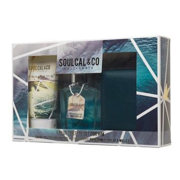 SOUL CAL MENS 75ML 3 PIECE SET